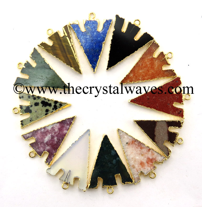 Gemstone Electroplated Pendants
