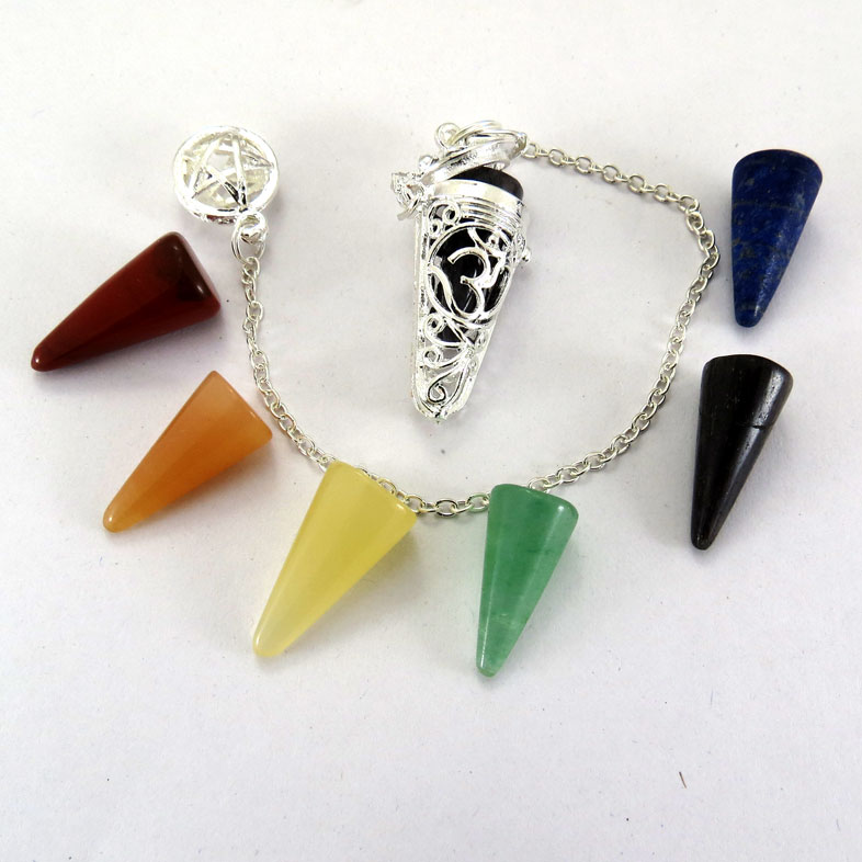 Other Mix Pendulums With Chakra Beads Chain