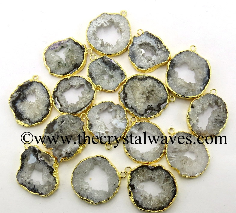 Electroplated Drusy , Geodes , Slices , Etc.Pendants