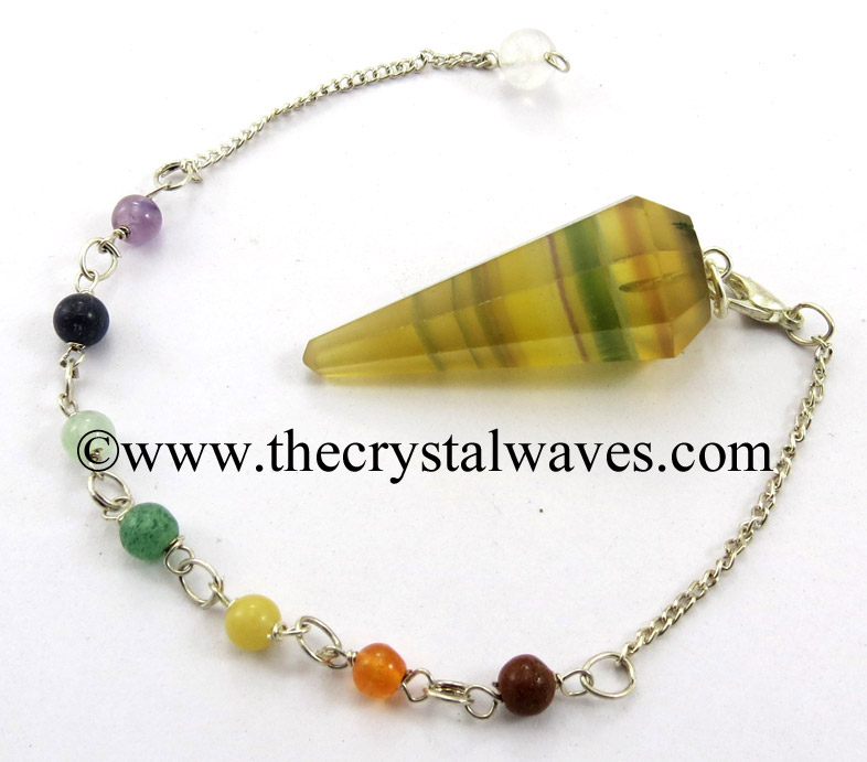 Faceted Pendulums With Chakra Beads Chain