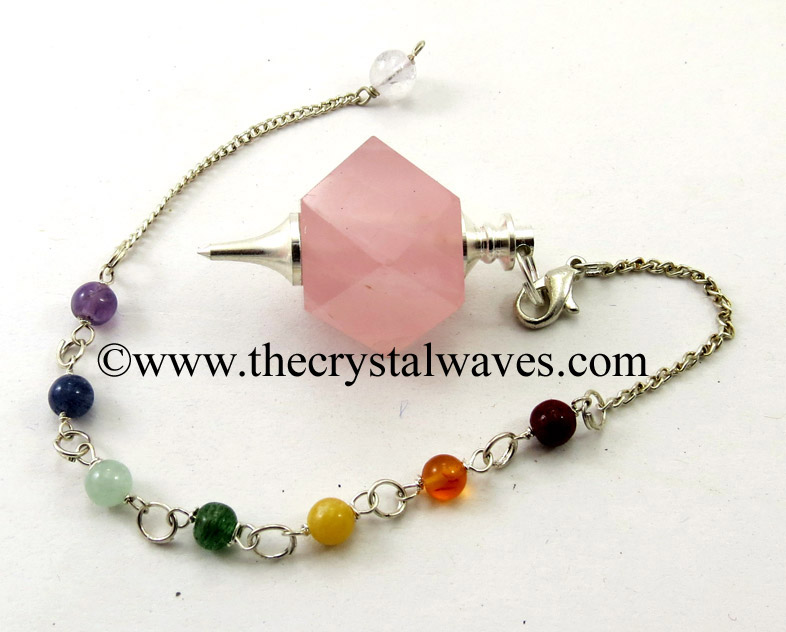 Hexagonal Pendulums with Chakra Beads Chain