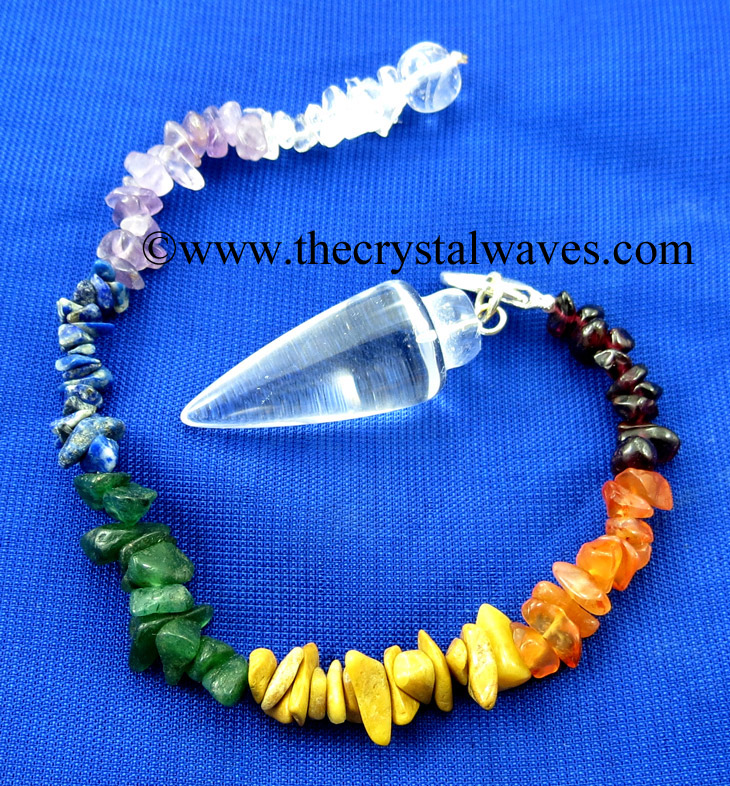Smooth Pendulums With Chakra Chips Chain