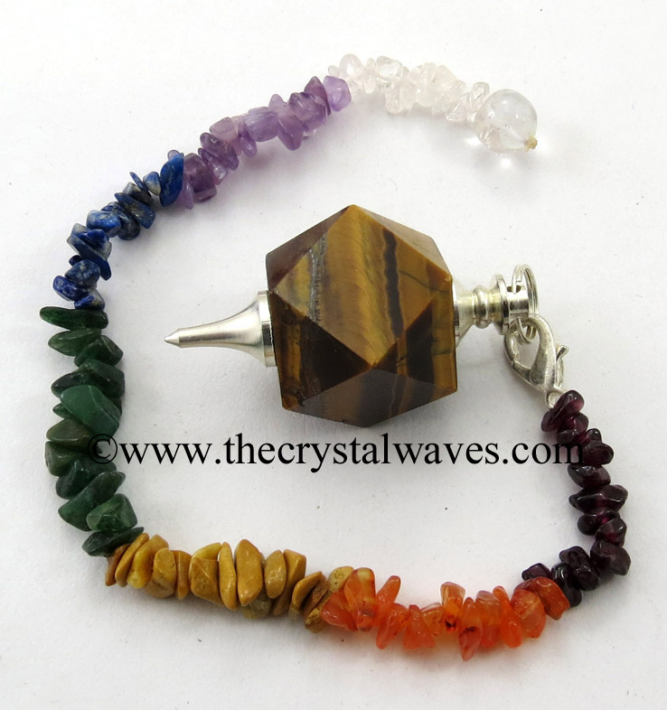 Hexagonal Pendulum With Chakra Chips Chain