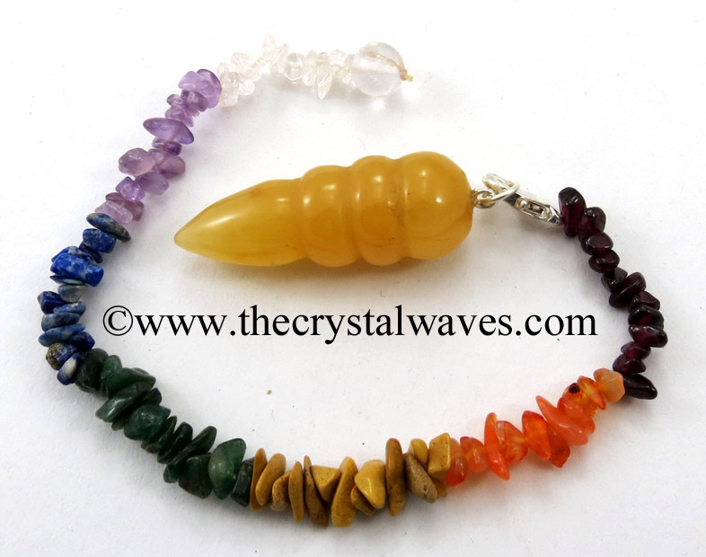 Egyptian Style Pendulums With Chakra Chips Chain