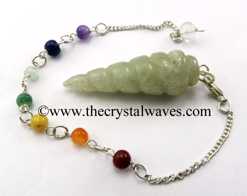 Spiral Pendulums With Chakra Beads Chain