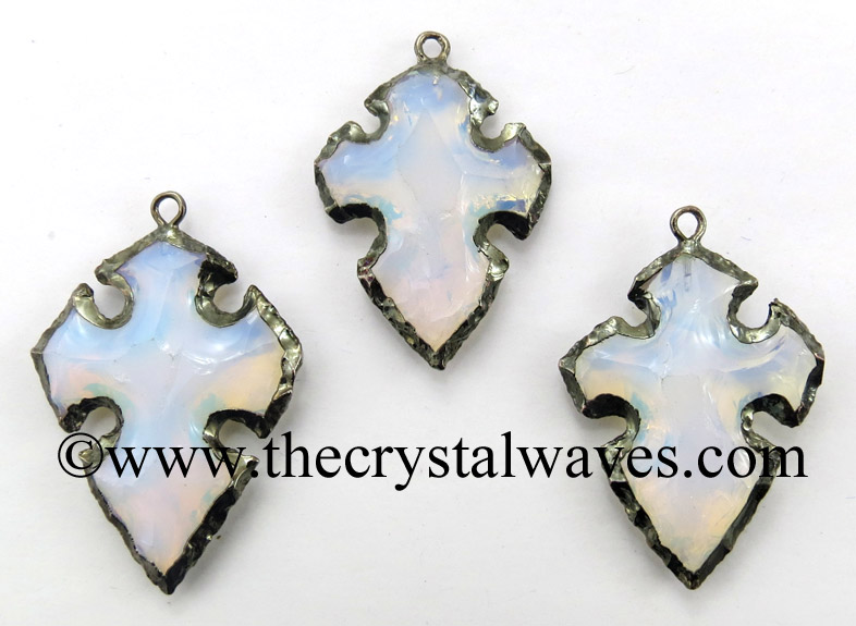 Mix Electroplated Hand Knapped Pendants