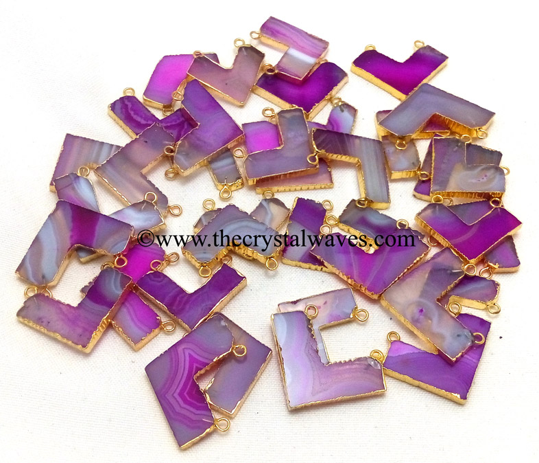 Chevron Electroplated Pendants