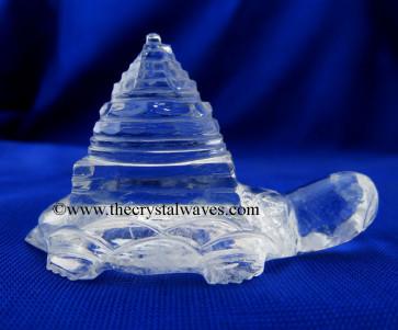 Crystal Quartz  / Sfatik Tortoise Shreeyantra / Kachua Shreeyantra