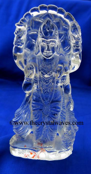 Exclusive Crystal Quartz / Sfatik Hand Carved Goddess Laxmi Ji