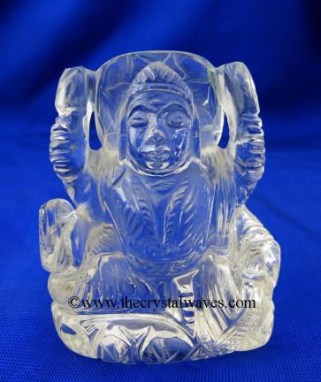 Crystal Quartz Hand Carved Goddess Laxmi Ji Good Quality