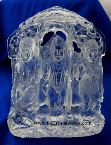 Exclusive Crystal Quartz / Sfatik Hand Carved  Ram Parivar /Family