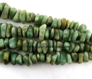 Green Aventurine ( Light)  Large Chips Graduated Strands