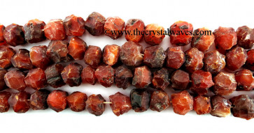 Carnelian Hand Knapped Round Nuggets