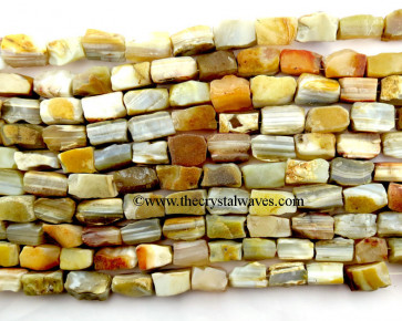 Lace Agate Hand Knapped Rectangle Nuggets