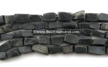 Black Agate Hand Knapped Rectangle Nuggets