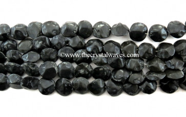 Black Agate Hand Knapped Coin Nuggets