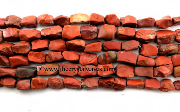 Red Jasper Hand Knapped Rectangle Nuggets