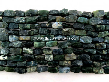 Moss Agate Hand Knapped Rectangle Nuggets