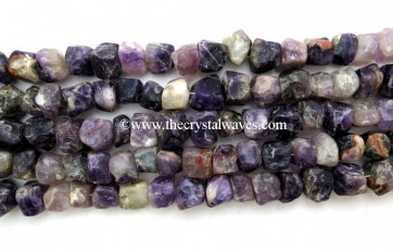 Amethyst Hand Knapped Square Nuggets
