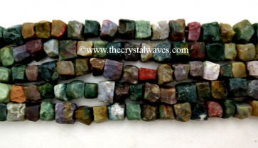 Fancy Jasper Hand Knapped Square Nuggets