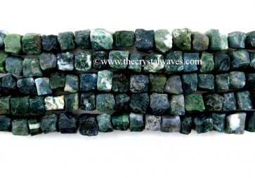 Moss Agate Hand Knapped Square Nuggets