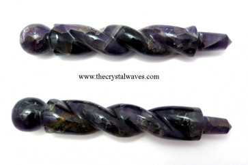 Amethyst Twisted Healing Stick