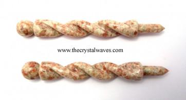 Sunstone Twisted Healing Stick