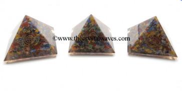 Chakra Orgone Pyramids With Coper Coil