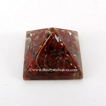 Red Jasper Small Orgone Pyramid