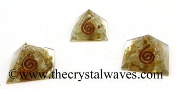 Citrine Chips Orgone Small Baby Pyramids