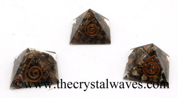 Rhodonite Chips Orgone Small Baby Pyramids