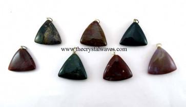 Fancy Jasper Triangle Pendant