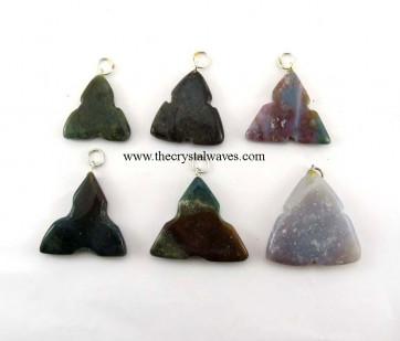 Fancy Jasper 3 Notch Triangle Pendant