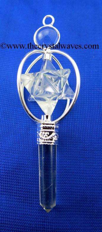 Crystal Quartz 3 Piece Merkaba/Star Pendant