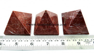 Red Jasper  35 - 55 mm wholesale pyramid