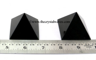 Black Agate  35 - 55 mm wholesale pyramid