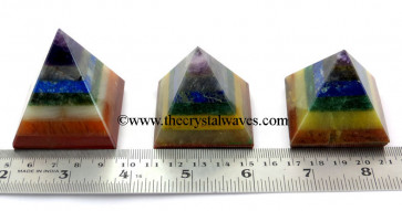 7 Chakra Bonded  35 - 55 mm wholesale pyramid