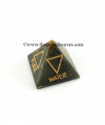 Labradorite 5 Element Engraved Pyramid