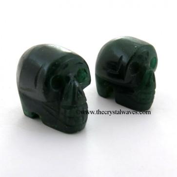 Green Aventurine (Dark) Skull