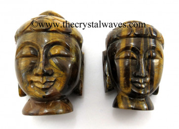 Tiger Eye Agate Small Buddha Head