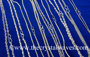 Mix Assorted Design Silver Chains For Pendants