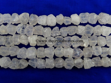 Crystal Quartz Hand Knapped Round Nuggets
