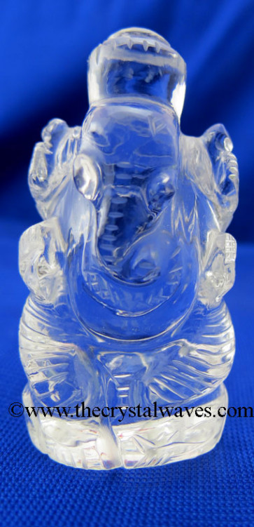 Crystal Quartz Hand Carved  Ganesha Good Quality Small Size