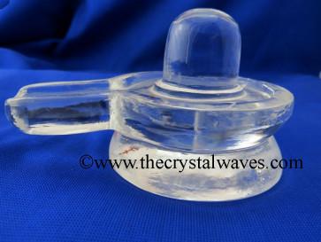 Crystal Quartz / Sfatik Shivaling Good Quality 50 To 75 Grms