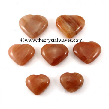 Peach Moonstone 15 -25 mm Pub Hearts