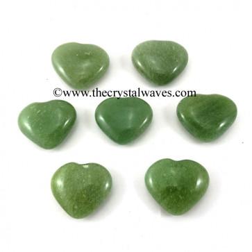 Green Aventurine 15 -25 mm Pub Hearts