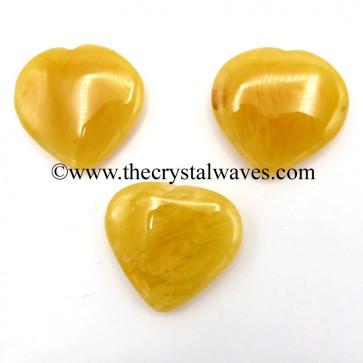 Yellow Aventurine 15 -25 mm Pub Hearts