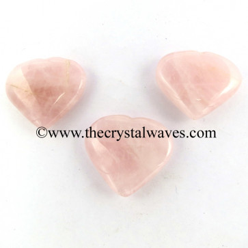 Rose Quartz 15 -25 mm Pub Hearts
