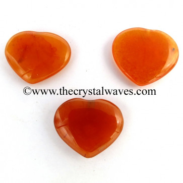 Carnelian 15 -25 mm Pub Hearts