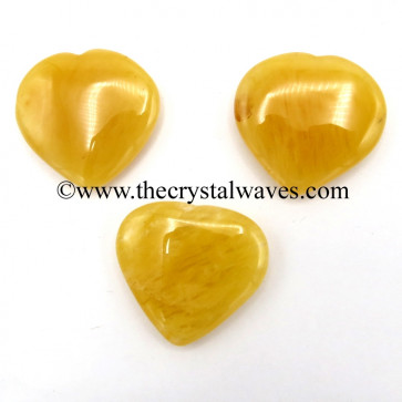 Yellow Aventurine 35 - 55 mm Pub Heart